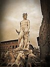 Neptune fountain, Florence, Italy by David Carton