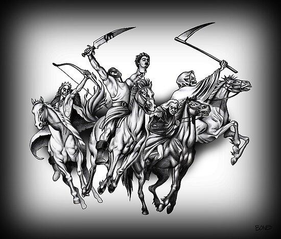 Vier Reiter der Apokalypse von Jessica Bone