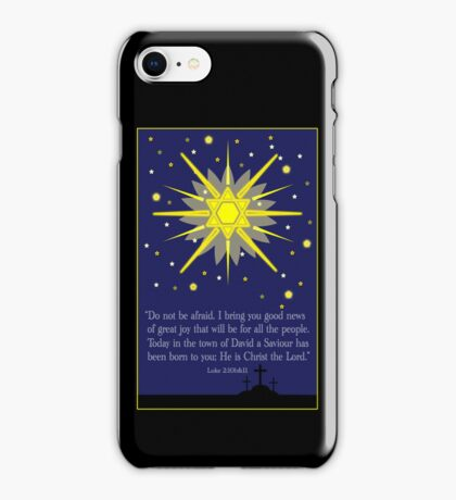staryy sky & crosses (luke 2:10-11) iPhone Case/Skin