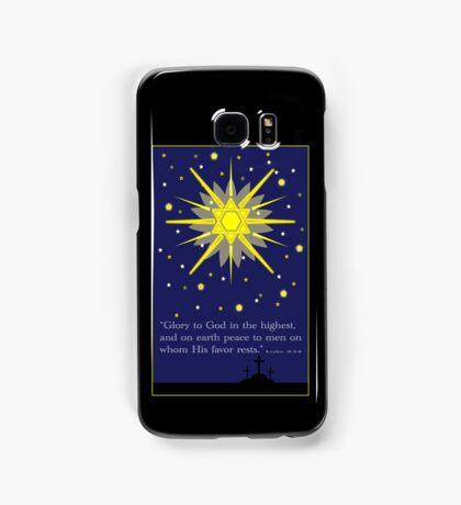 stars & crosses (luke2:14) Samsung Galaxy Case/Skin
