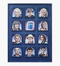 Eleven Doctors and the TARDIS: 50th Anniversary Photographic Print