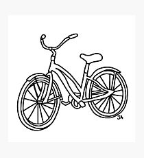 Beach Cruiser Bicycle  Photographic Print