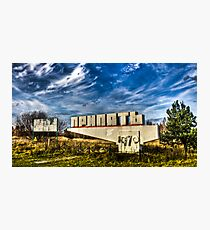 Abandoned Prypiat Entrance Sign Photographic Print