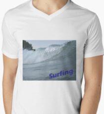 Surfing Men's V-Neck T-Shirt