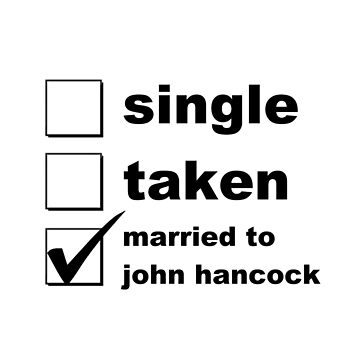 Single. Taken. Married to Hancock by NoniRose