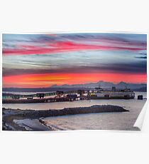 Autumn Sunset over Puget Sound Poster