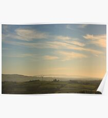 Morning Mist From Croaghan Hill Poster