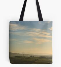 Morning Mist From Croaghan Hill Tote Bag