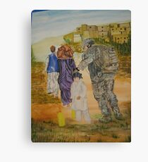 Soldier in Afghanistan Canvas Print