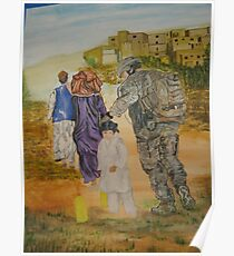 Soldier in Afghanistan Poster