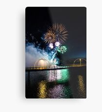 Southport Fireworks Show Metal Print
