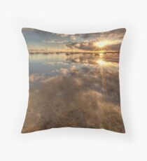 Dual Sunbursts Throw Pillow