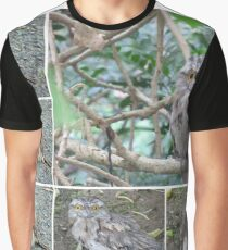 Tawny Frogmouth collage Graphic T-Shirt