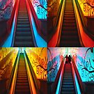 Escalator Collage No. II by biddumy