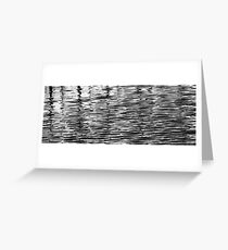 Retaining Wall Reflection 1 Black and White Greeting Card