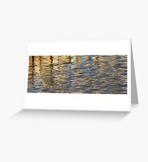 Retaining Wall Reflection 1 Greeting Card
