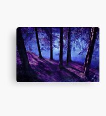 Abstract Forest Pond Canvas Print