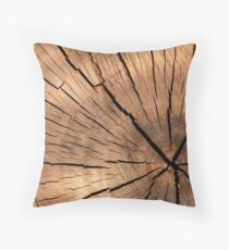 Very Elegant Wooden Texture Throw Pillow