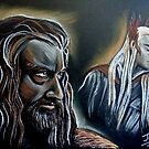 """""""He never forgave, he never forgot"""" Thorin and Thranduil by jos2507"""
