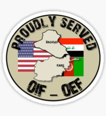 PROUDLY SERVED -OIF/OEF Sticker