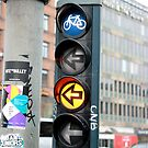 Bicycle Traffic Lights - Copenhagen  by rsangsterkelly