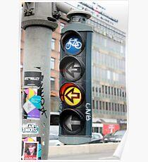 Bicycle Traffic Lights - Copenhagen  Poster