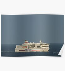 Brittany Ferries Pont Aven Poster