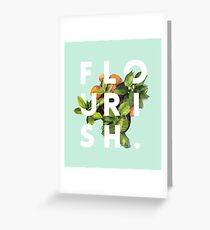 Flourish #redbubble #home #designer #tech #lifestyle #fashion #style Greeting Card
