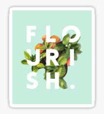 Flourish #redbubble #home #designer #tech #lifestyle #fashion #style Sticker