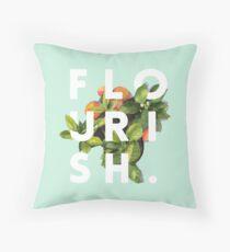 Flourish #redbubble #home #designer #tech #lifestyle #fashion #style Throw Pillow