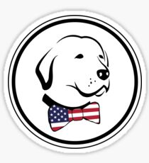 Classy American Dog Sticker