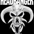 Headbanger Demon Skull by MetalheadMerch
