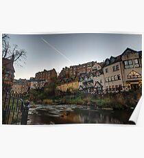 Sunrise Over The Water of Leith at Dean Village, Edinburgh Poster