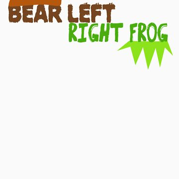 Bear Left Right Frog by baileygrl24
