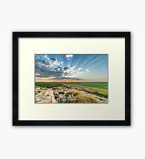 Ubirr Rays Framed Print