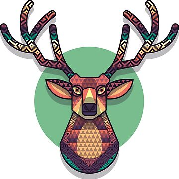 Geometric Deer Design by juankdef