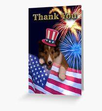 Thank You Sheltie Greeting Card