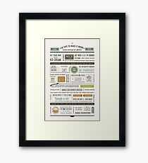 50 Marriage Tips • Spring Colors Framed Print
