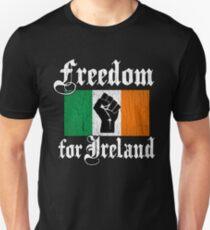 Camiseta ajustada Freedom for Ireland (Diseño vintage apenado)