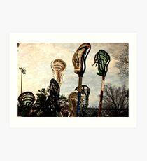 lacrosse sticks  Art Print