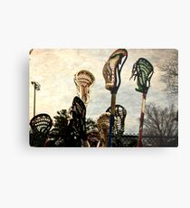 lacrosse sticks  Metal Print