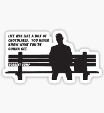 FORREST GUMP - CHOCOLATES Sticker