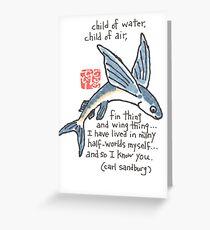 Flying Fish (v.3) Greeting Card