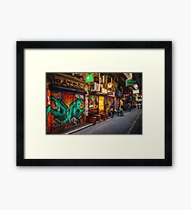 Sunday Evening in Centre Place Framed Print