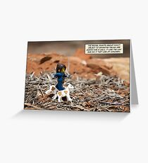Walking The Goats Greeting Card