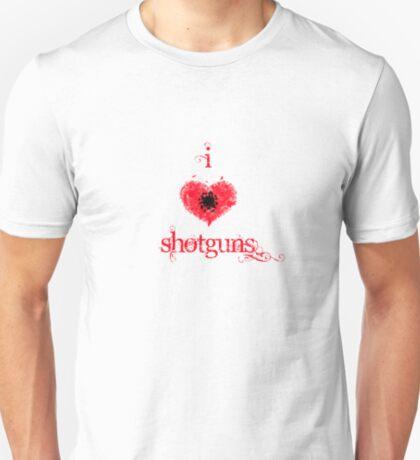 I <3 Shotguns (red & black) T-Shirt