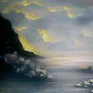 oregon coast sunset seascape. by resonanteye
