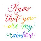 Know that you are my rainbow  by BbArtworx