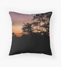 Sunset in Siem Reap Throw Pillow
