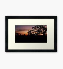Sunset in Siem Reap Framed Print
